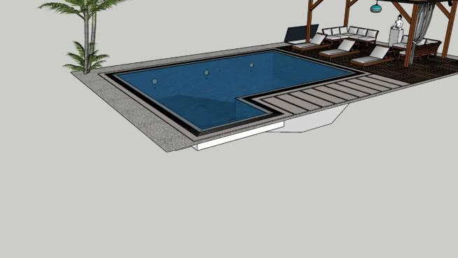 芬蘭邊境游泳池SU模型【ID:139880395】