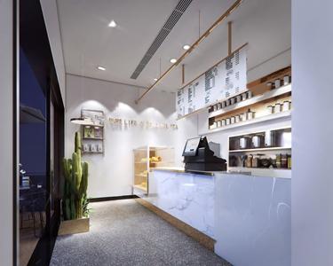 現代奶茶店3D模型【ID:220815577】