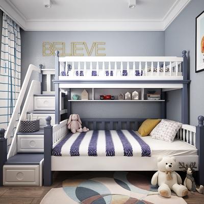 北歐臥室兒童房上下鋪3D模型【ID:128401257】