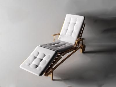现代躺椅3D模型【ID:734506358】