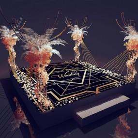 现代婚礼交接区3D模型【ID:726229514】