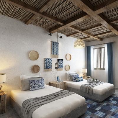 自然風民宿雙人房客房3D模型【ID:427795651】