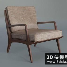 现代休闲椅国外3D模型【ID:729613822】