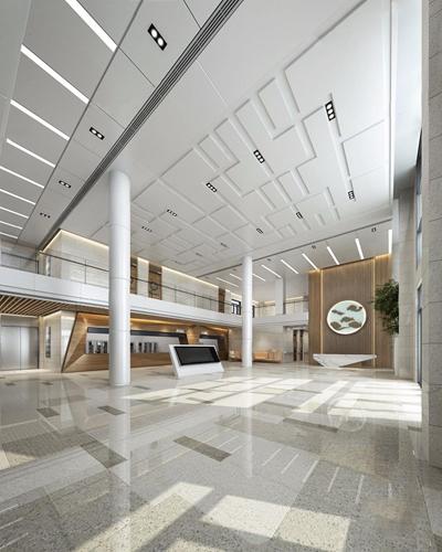 现代医院大厅3D模型【ID:928185645】