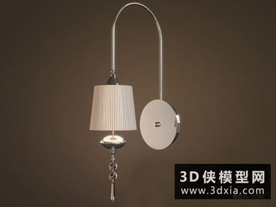 現代壁燈國外3D模型【ID:829569870】