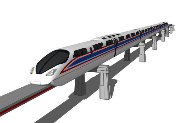 磁懸浮列車火車SU模型【ID:844990167】