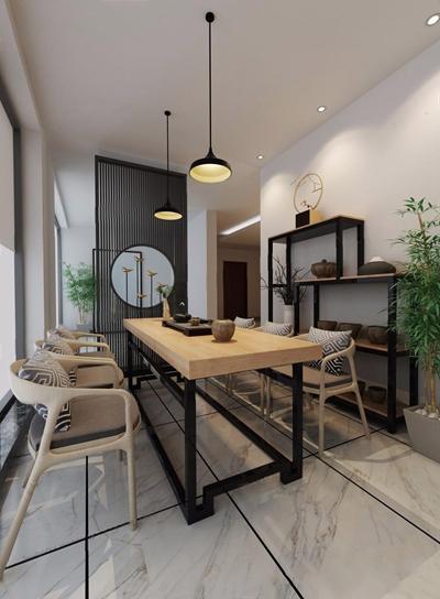 現代新中式茶室3D模型【ID:327926719】