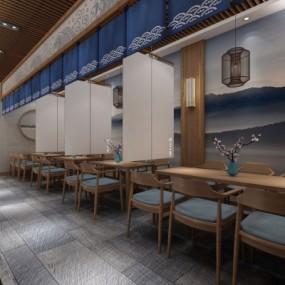 日式料理店3D模型【ID:328438018】