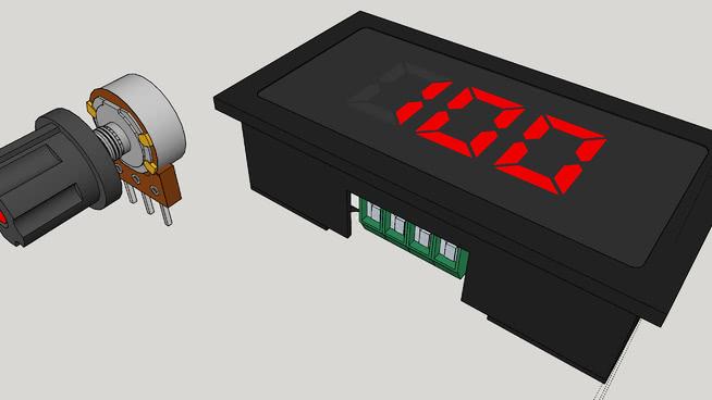 数字显示,在0~100%的PWM直流电机速度控制器6SU模型【ID:739886992】