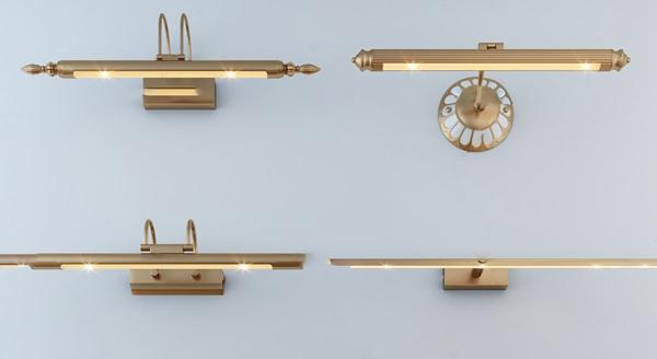 现代金属镜前灯壁灯3d模型