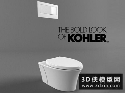 马桶国外3D模型【ID:929699968】