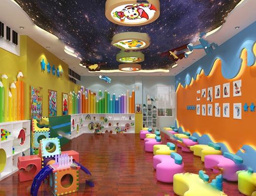 现代幼儿园3D模型【ID:724886505】