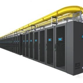 现代服务器机柜3d模型【ID:446657329】