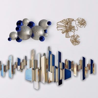 现代金属装饰挂件组合3D模型【ID:228422288】