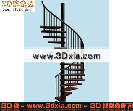 3D模型-很好的旋转楼梯【ID:7117】