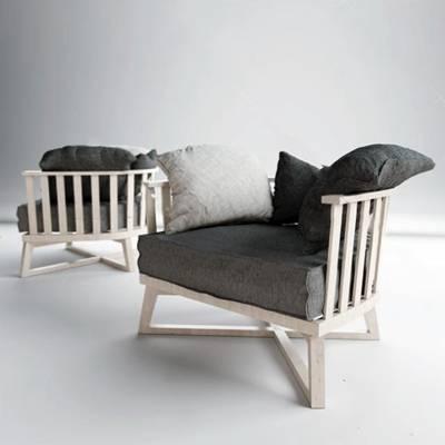 北欧沙发椅3D模型下载【ID:919428488】