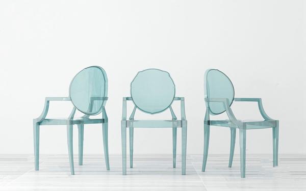 現代亞克力單椅3D模型【ID:748244087】