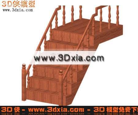 3D模型-经典木制楼梯【ID:7138】