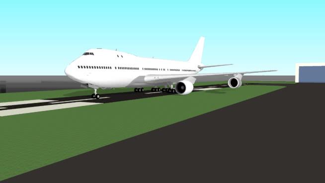 通用航空公司波音74-100SU模型【ID:839890557】