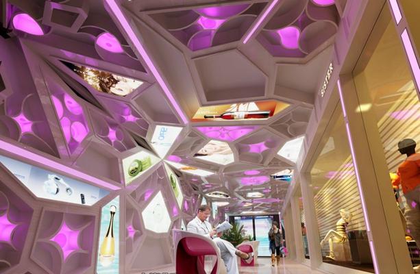 现代广告展厅3D模型【ID:714944246】