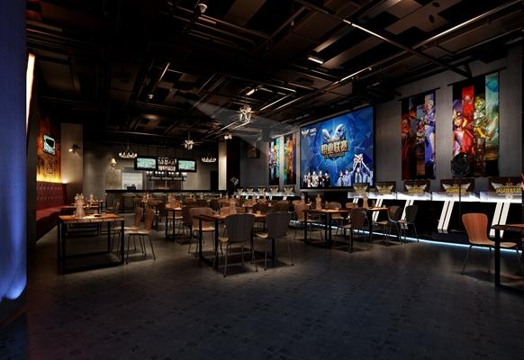 现代主题餐厅3D模型【ID:714950992】