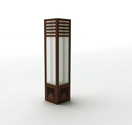 现代木艺地灯3D模型【ID:714951102】