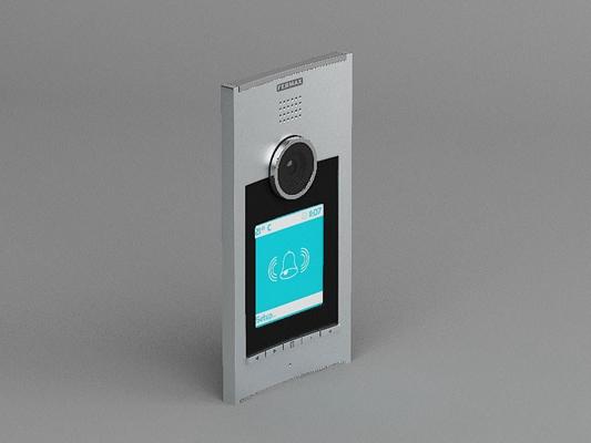 银色长方形铁艺门铃3D模型【ID:715033416】