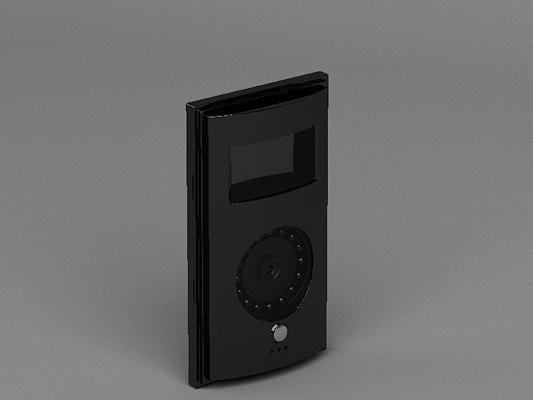黑色长方形铁艺门铃3D模型【ID:715033426】