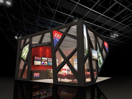 现代广告展厅3D模型【ID:715092232】