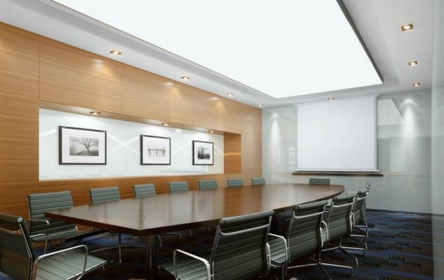 现代会议室3D模型【ID:715175854】