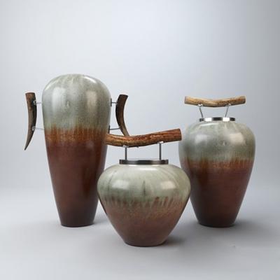 棕色陶艺罐子3D模型【ID:715191385】