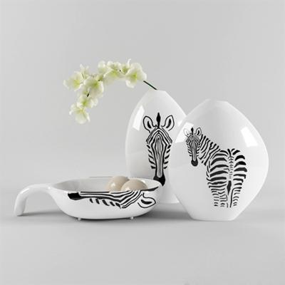 白色陶艺罐子3D模型【ID:715226374】