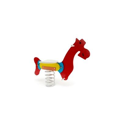 红色木艺木马3D模型【ID:715250106】