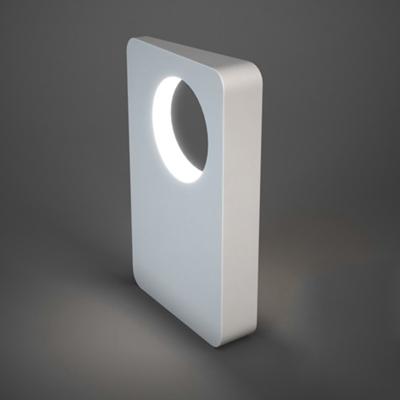 现代白色塑料地灯3D模型【ID:715257126】