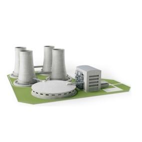 发电厂3D模型【ID:715280121】