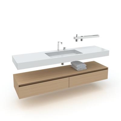 棕色洗手台3D模型【ID:715283752】