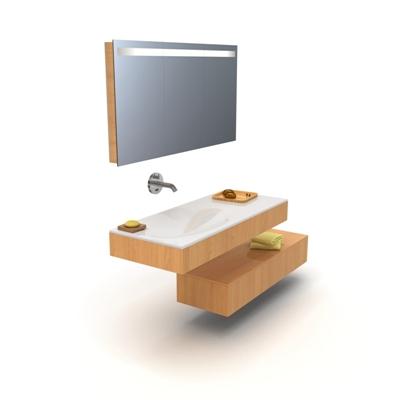 棕色洗手台3D模型【ID:715283762】