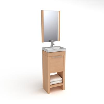棕色洗手台3D模型【ID:715283782】