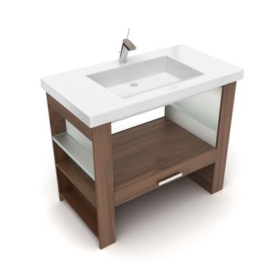 棕色洗手台3D模型【ID:715284732】
