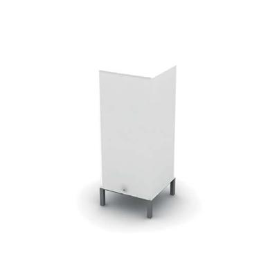 现代白色玻璃地灯3D模型【ID:715292165】