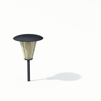 现代黑色金属地灯3D模型【ID:715379146】