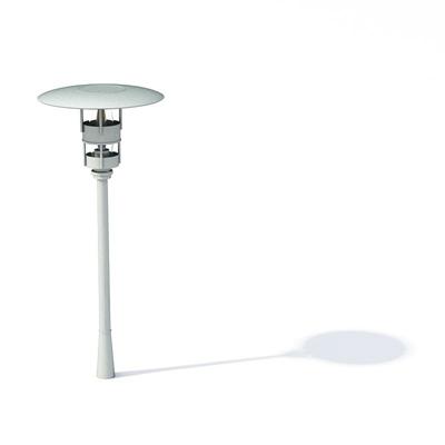 现代白色金属地灯3D模型【ID:715379152】