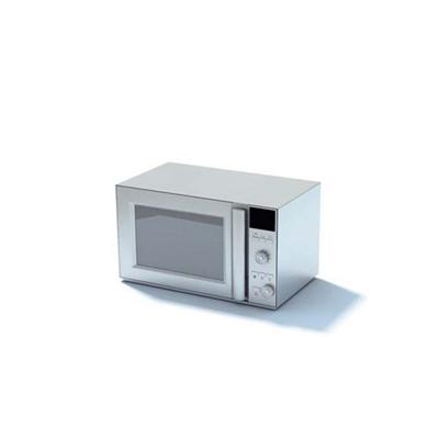 银色微波炉3D模型【ID:715379663】