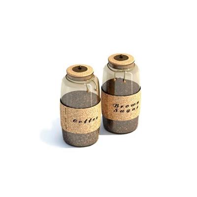 透明玻璃罐子3D模型【ID:715420338】