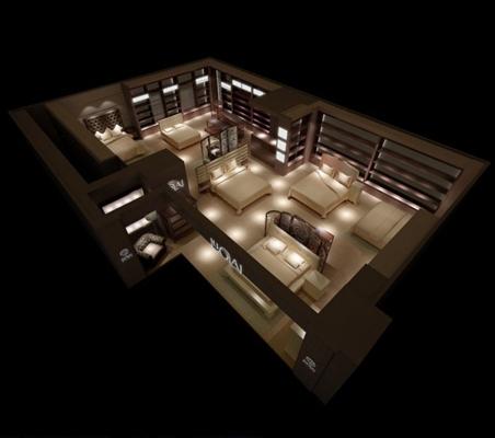 家具展厅13D模型【ID:717261347】