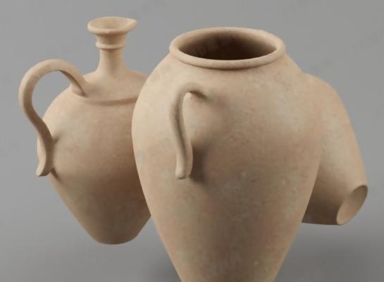 棕色陶艺罐子3D模型【ID:717578347】