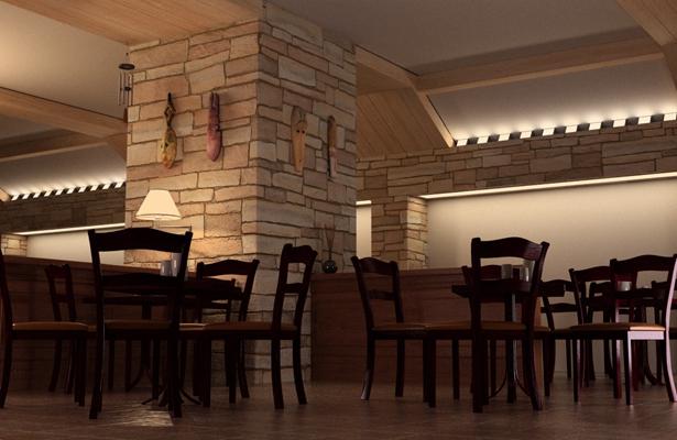 工业风主题餐厅3D模型【ID:717591981】