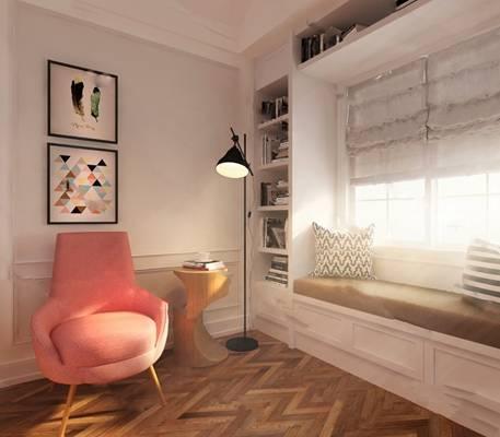 北欧沙发椅3D模型下载【ID:919428460】