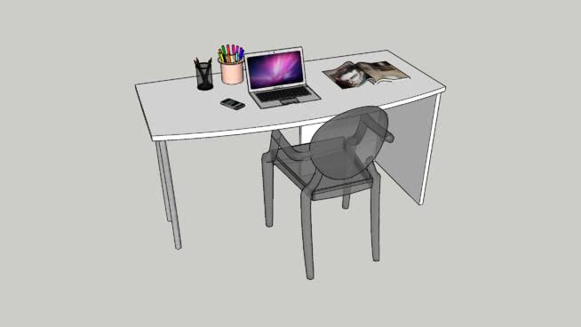書桌椅SU模型【ID:539892002】