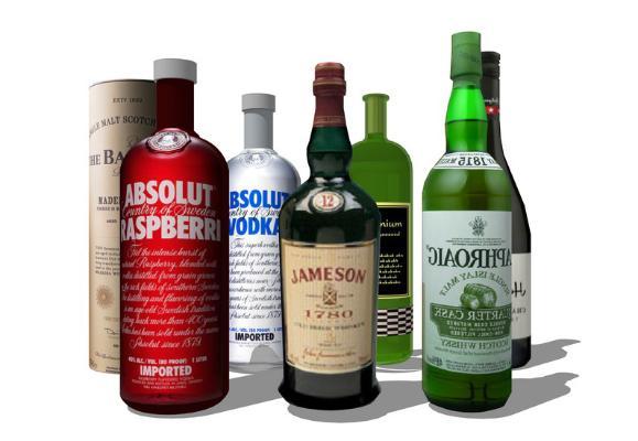 酒瓶SU模型【ID:947858982】
